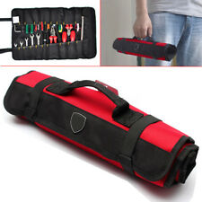 Hardware Tools Roll Plier Screwdriver Spanner Carry Case Pouch Bag 22 Pockets