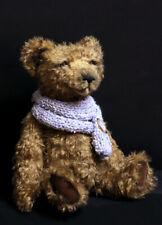 Daniel big mohair classic artist teddy bear soft toy brown dressed knitted scarf