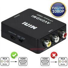 NEW HDMI To RCA AV Adapter Converter Cable CVBS 3RCA 1080P Composite Video Audio
