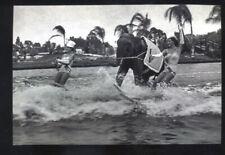REAL PHOTO FLORIDA WATER SHOW ELEPHANT WATER SKIING SKI POSTCARD COPY