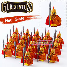 21PCS/Lot Hero of Sparta  Gladiatus Minifigures Medieval Knights Building blocks