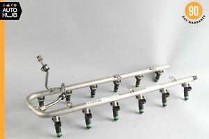 03-12 Mercedes W220 S600 SL600 S65 AMG Fuel Injector Rail w/ Fuel Injectors OEM