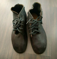 Vintage USSR Soviet Russian Tarpaulin Leather Boots 1970's Size 10 (42)