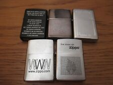 5 x ZIPPO Job Lot includes Jeep, Bottomz Up, and Full Metal Jacket