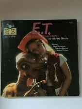 "ET THE EXTRA TERRESTIAL BOOK VINYL RECORD Set VTG Read Along MOVIE Gertie 7"""