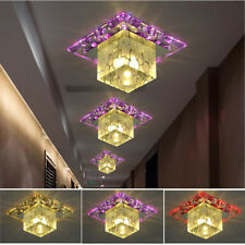 Plafonnier LED Cristal Lustre Lampe Plafond Éclairage Lumière Light Moderne Déco