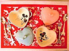 DISNEY STORE JAPAN MICKEY & MINNIE CASSEROLE SPOON FORK FELT MAT SET BRAND NEW !