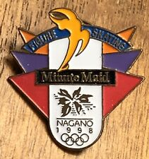 Figure Skating Minute Maid 1998 Nagano Olympic Winter Games Sponsor Lapel Pin