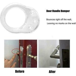 Transparent Doorstop Silicone Door Handle Buffer Wall P Protector Bumpers C W4O4