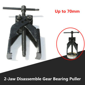 Car Upto 70mm Disassemble Gear Bearing Puller 2-Jaw Extractor Remover Tool Steel