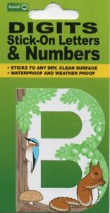 "DIGITS - STICK ON LETTERS & NUMBERS ""B"" - WOODLAND - FREE UK POSTAGE"