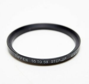 Tiffen 55-58mm Step Up Stepping Ring Lens Filter Thread Adapter 55mm-58mm