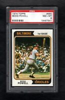 1974 TOPPS #460 BOOG POWELL ORIOLES PSA 8 NM/MT CENTERED!