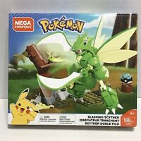 Mega Construx Pokemon Slashing Scyther Building Set 188 Pieces , New Open Box