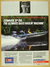 1985 Evinrude XP-150 Outboard motor Ranger 350V Bass Boat photo vintage print Ad