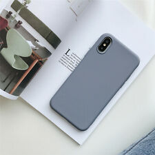 For iPhone 8 7 6 6S Plus XS MAX X Ultra-Thin Soft Silicone Silky Full Back Case