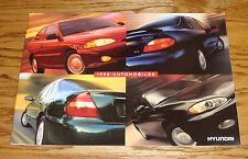 Original 1998 Hyundai Full Line Sales Brochure 98 Tiburon Sonata Elantra Accent
