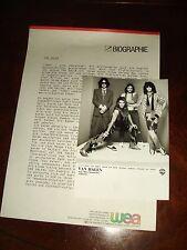 Rare Vintage Van Halen July 1984 Hamburg Germany Wea Records Press Kit + Photo
