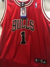 Autographed Signed Both Sides! Chicago Bulls #1 Derrick Rose jersey  New