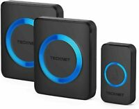 TECKNET Wireless Doorbell, Waterproof Twin  Wall Plug-in Cordless Door Chime Kit