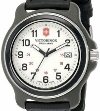 PRE-OWNED $126 Victorinox Men's Original XL Swiss Quartz Black Watch 249086
