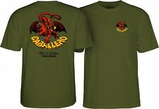 Powell Peralta Steve Caballero RED DRAGON II Skateboard Shirt MILITARY XL
