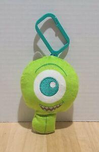 "DISNEY Monsters ""MIKE"" Mcdonalds Clip Plush 7"" Long 2019 Pixar Backpack Clip"