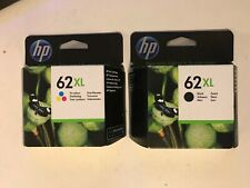 Genuine Original HP 62XL Black + 62XL Tri-Colour Combo Printer Ink Cartridges