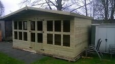 """16X10 +2FT CANOPY SUMMERHOUSE  19MM T/G TANALISED 3X2 FRAMING 1"""" THICK FLOOR"""