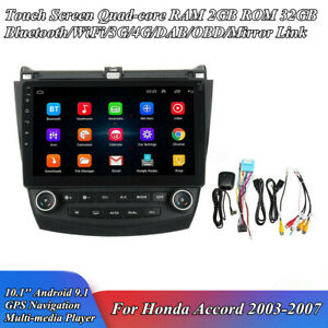 10.1'' Android 9.1 Stereo Radio 2+32GB GPS Navigation For Honda Accord 2003-2007