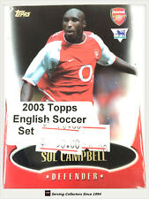 2003 Topps Gold English Premier League Soccer Trading Card Base Set (125)-Rare