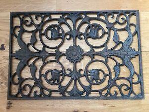 Ornate Cast Iron Door Mat 60 x 40 cm