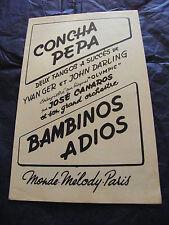 Partition Concha Pepa Yvan Ger John Darling Bambinos Adios Tangos 1952