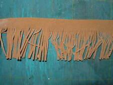 "2"" Faux Suede Tassel Fringe Trim Orange Gold for Boho, chic Crafts sell by yard"
