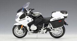 MAISTO 1:18 BMW R1200RT R 1200 RT Police MOTORCYCLE BIKE DIECAST MODEL