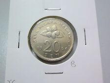 B: Malaysia 20 Sen coin (1994) - Good EF