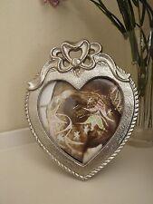 Metal heart shaped photo frame