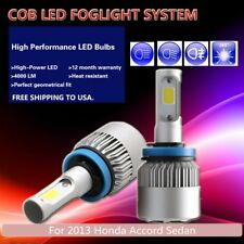 US 2Pcs White PHILIPS COB 16000LM LED Fog Light For 2013 Honda Accord Sedan