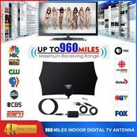 960 Mile Range Antenna TV Digital HD Skywire 4K HDTV 1080P Indoor w/Amplifier US
