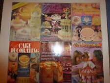 Lot of 9 Vintage Cake Decorating Magazine, 1976 to 1989, Wilton Yearbooks