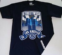 STREETWISE LOS ANGELES CITY T-SHIRT NAVY BLUE L,XL    .B