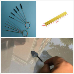 Portable 11X Car Windshield Spray Wiper Nozzle Washer Jet Needle Brush Tool Kits