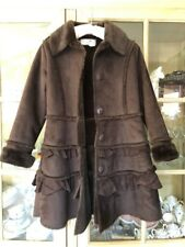 Euc Chasing Butterflies Brown Widgeon Toddler girls coat Sz 7,6 Or 5