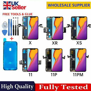 For iPhone X XR XS 11 Pro Max Screen Replacement LCD 3D Touch Digitizer TrueTone