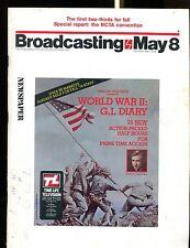Broadcasting Magazine May 8 1978 World War III G.I. Diary VG w/ML 122916jhe