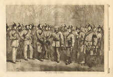 The London Scottish Volunteers, Military History, Vintage 1862 Antique Print