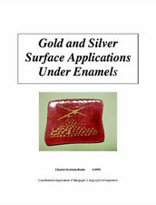 Gold and Silver Surface Applications Under Enamels/jewelry making