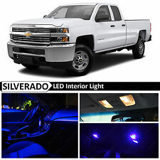 14x Blue Interior LED Light Package Kit for 2007-2013 Chevy Silverado
