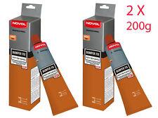 NOVOL BUMPER FIX Professional Repair Kit Filler Putty for Plastic 2 X 200g  1170