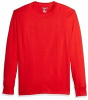 Champion Men's Classic Jersey Long Sleeve T-Shirt, Scarlet,, Scarlet, Size Large